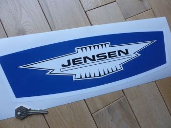 "Jensen Large Badge Style Blue Sticker. 16.5""."