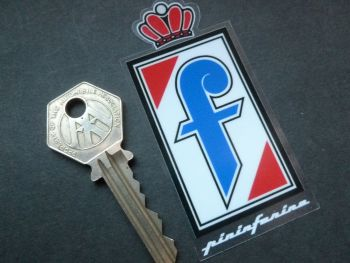 "Pininfarina Logo Window Sticker. 3.5""."