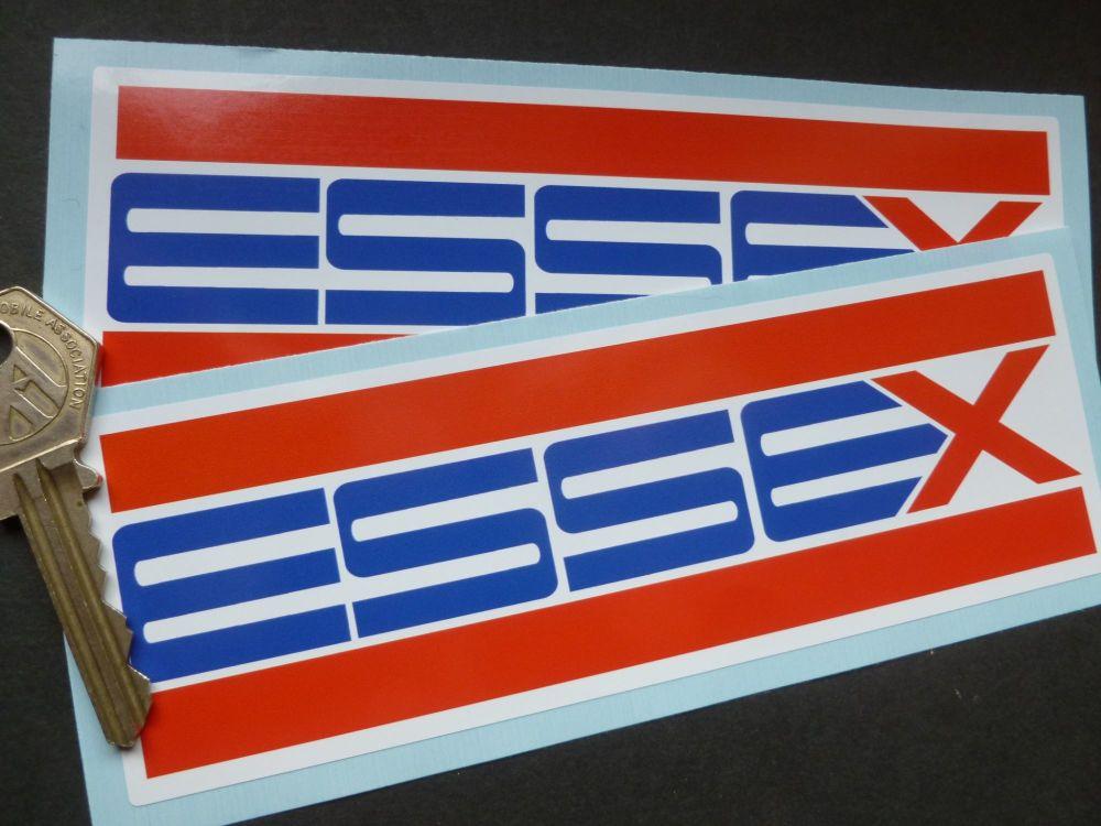 "Essex Oblong Petroleum Stickers. 6"" Pair."