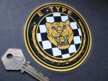 "Jaguar E Type Growler Facestick Window Sticker. 4"" or 5""."