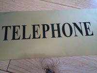 Telephone Black Cut Vinyl Sticker. 17.5