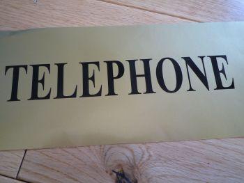 "Telephone Black Cut Vinyl Sticker. 17.5""."