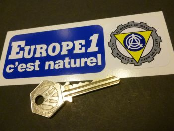 "ACO LeMans Radio Europe 1 c'est naturel Oblong Car Sticker. 5""."
