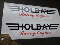 Holbay Racing Engines Red, Black & White Stickers. 5.75