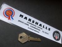 "Marshalls of Cambridge Austin BMC Dealer Sticker. 8""."