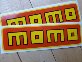 "MOMO Oblong Stickers. 9.25"" Pair."
