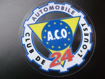 "ACO Coloured LeMans 24 Circular Window Sticker. 2.5"" or 3.5""."