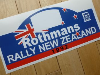 "Rally New Zealand 1992 Rally Plate Style Sticker. 16""."