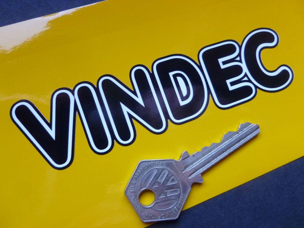 "Vindec Bicycle Black & White Shaped Text Sticker. 5""."
