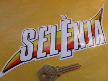 "Selenia Motor Oil Coloured and Shaped Stickers. 8"" Pair."