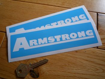"Armstrong Light Blue Stickers. 7"" Pair."