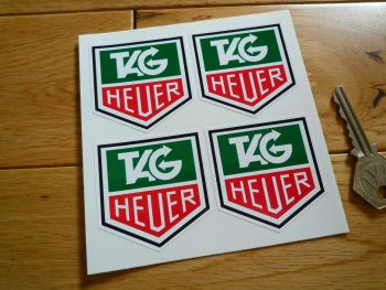 "Tag Heuer Set of 4 Full Colour Stickers. 2""."