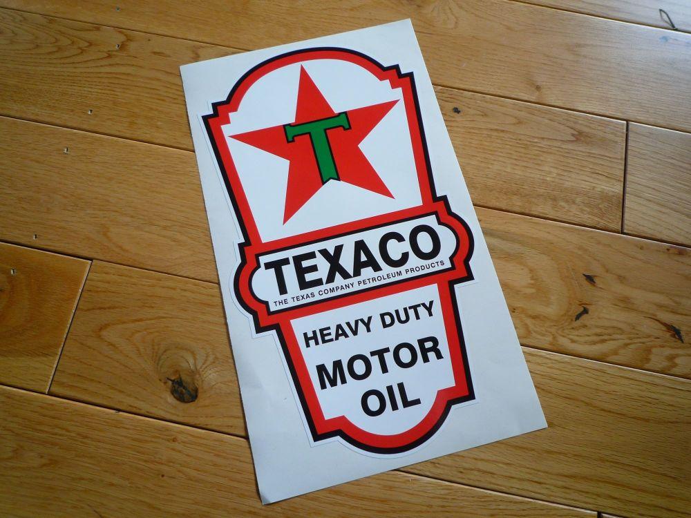 """Texaco Motor Oil Dispenser Sticker. 21.5""""."""