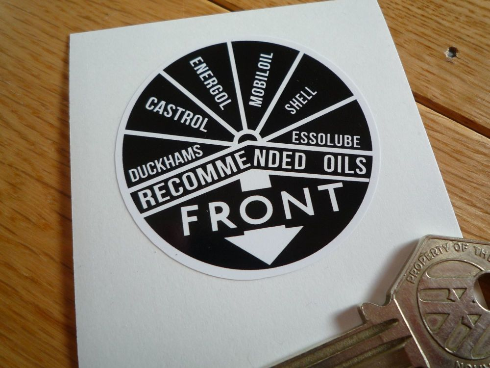 Triumph ( + others? )  Rocker Box Oil Cap Sticker. 55mm.