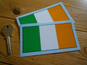 "Ireland Irish Flag Stickers. 4"" Pair."