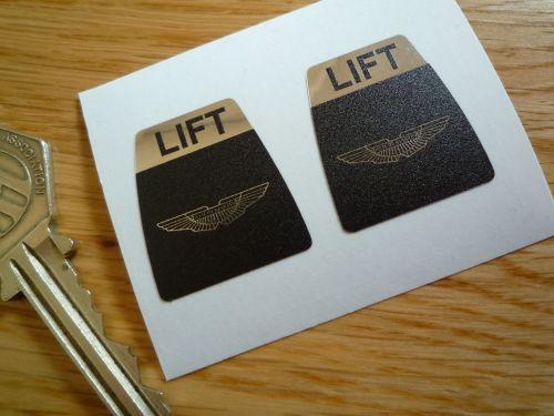 Aston Martin Kangol Style Seat Belt Lift Shaped Stickers. 1