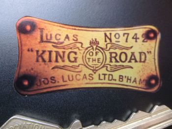 "Lucas King of the Road No.742 Sticker. 2""."