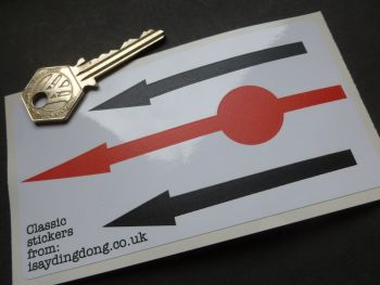 Stick on Petrol Pump Pointer Needles. Black & Red. Set of 3 Stickers.