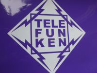 "Telefunken Diamond Cut Vinyl Sticker. 5.5"" or 8""."