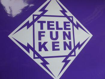 "Telefunken Diamond Cut Vinyl Sticker. 5.5"" or 8""."