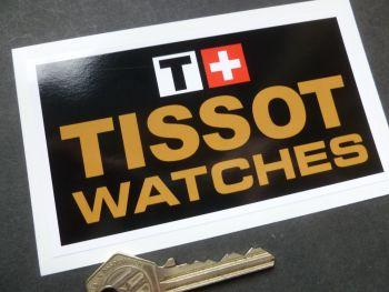 "Tissot Watches Swiss Watch Sponsors Sticker. 5""."