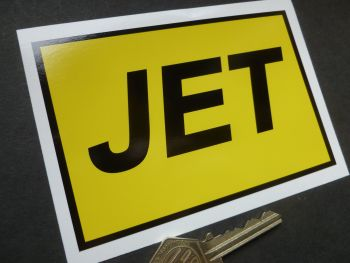 "JET Petrol Old Style Oblong Shaped Sticker. 4""."