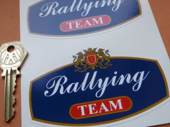"Rothmans Style Rallying Team Stickers. 4"" Pair."