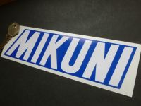 Mikuni Blue & White Sticker. 8