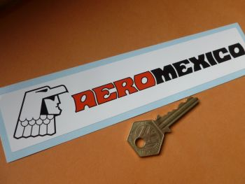 "Aero Mexico Oblong Sticker. 8""."