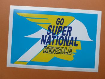 "National Benzole Go Super Self Adhesive Sticker. 3.5"" or 8""."