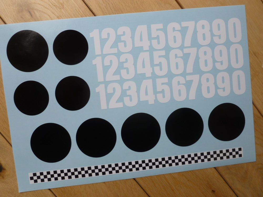 RC Radio Controlled Car Mardave Vintage Style Stickers. Set 4.