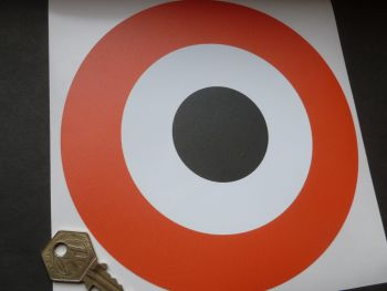 "Harley Davidson Black, White, and Orange Roundel Sticker. Motorhome, Pick-up, Trailer. 6.75""."