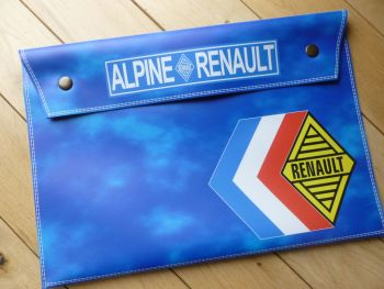 Renault Alpine Large Document Holder/Wallet. A4.