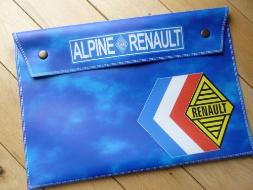 Renault Alpine Large Document Holder/Wallet. A4.