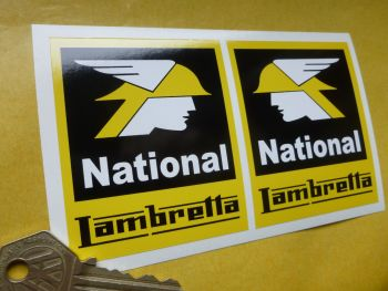 Lambretta National Stickers. 80mm or 120mm Pair.