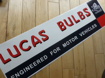 "Lucas Bulbs Large Workshop Sticker. 35.5""."