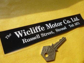 """Wicliffe Motor Co of Stroud Dealer Sticker 8"""""""