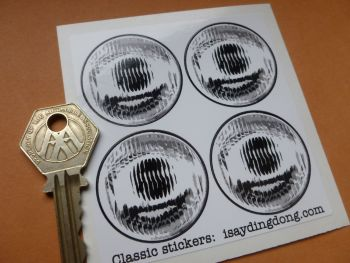 Small False Headlights Headlamps Stickers. Radio Controlled, Pedal Cars, etc. 38mm. Set of 4.