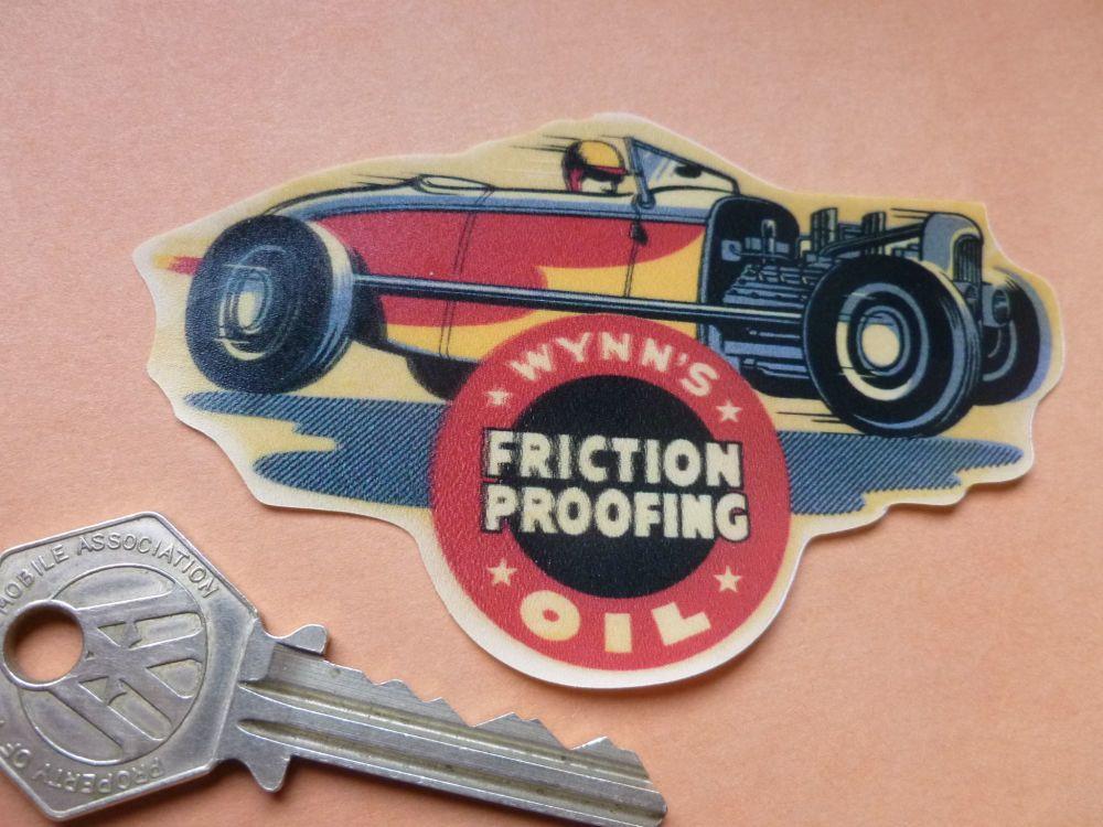 """Wynn's Old Style Hot Rod Window Sticker. 4""""."""
