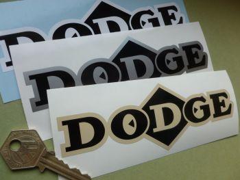 "Dodge Diamond Text Sticker. Various Colours. 6.25""."