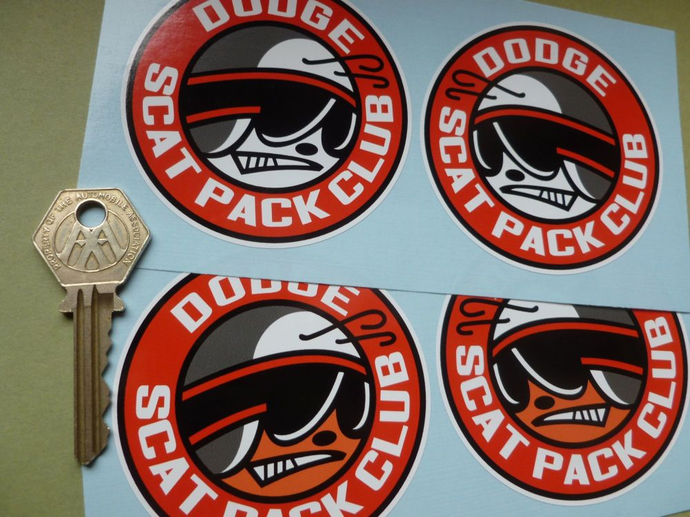 "Dodge Scat Pack Club Stickers. 3"" Pair."