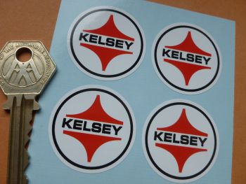 Kelsey Circular Stickers. Set of 4. 36mm.