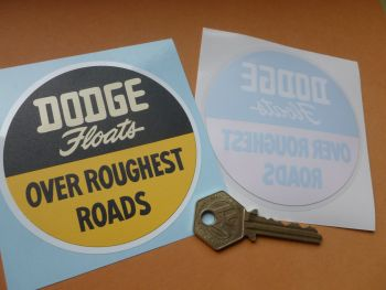 "Dodge 'Floats Over Roughest Roads' Window or Body Sticker. 3.5""."