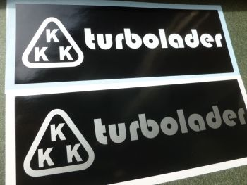 "KKK Turbolader Black & White or Black & Silver Sticker. 8""."