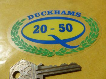 "Duckhams 'Q' 20-50 Classic Garland & Oval Window Sticker. 4""."