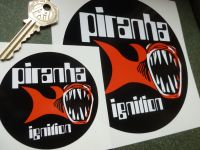 Piranha Electronic Ignition Circular Sticker. 3