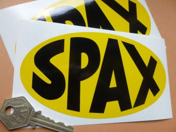 "Spax Plain Oval Stickers. 6"" Pair."