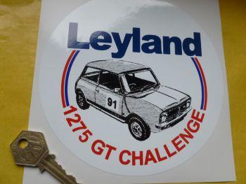 """British Leyland Mini Circular 1275 GT Challenge Sticker. 6""""."""