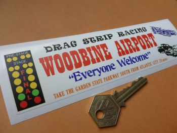 "Woodbine Airport Atlantic City NJ Window or Car Sticker. 7""."