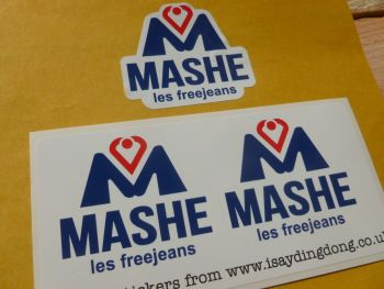 Mashe Helmet Stickers - 35mm or 60mm Pair